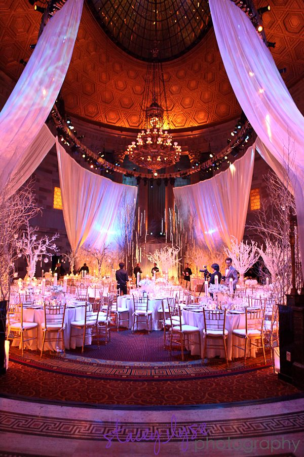 Chandelier Event Winter Wonderland Wedding Gotham Hall