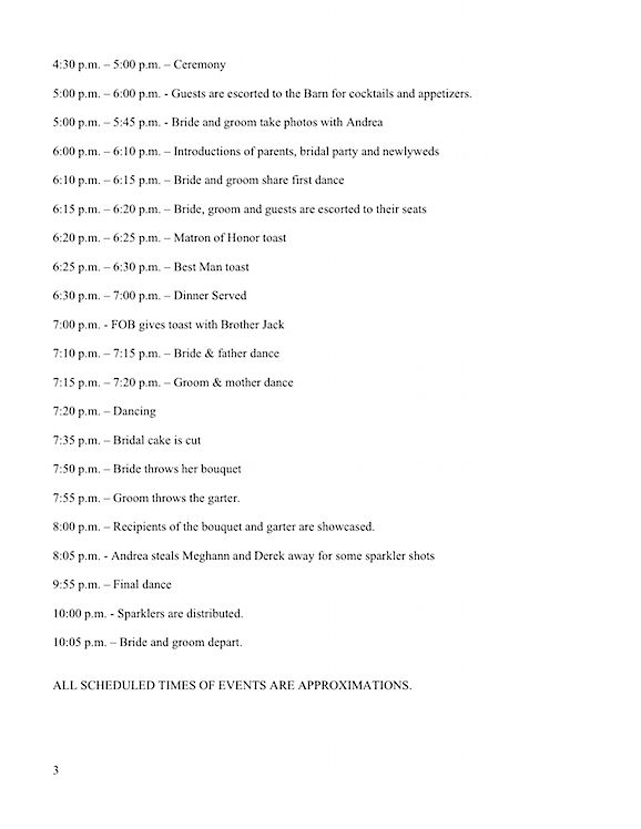 Wedding Timeline Day Before And Day Of Example Wedding Ideas Pinterest Wedding Reception
