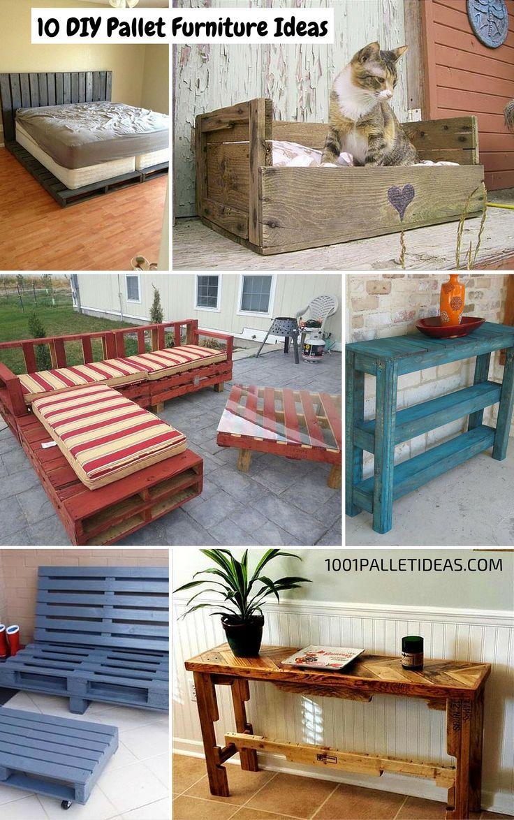 Diy pallet furniture, Pallet furniture and Furniture ideas