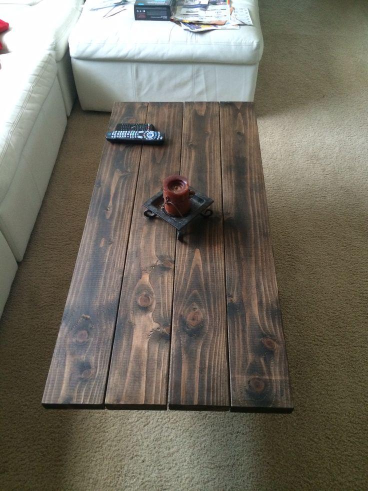 My Coffee Table Top 2x6 Douglas Fir With Dark Stain Amp Wax Franco Furnishing Pinterest Wax