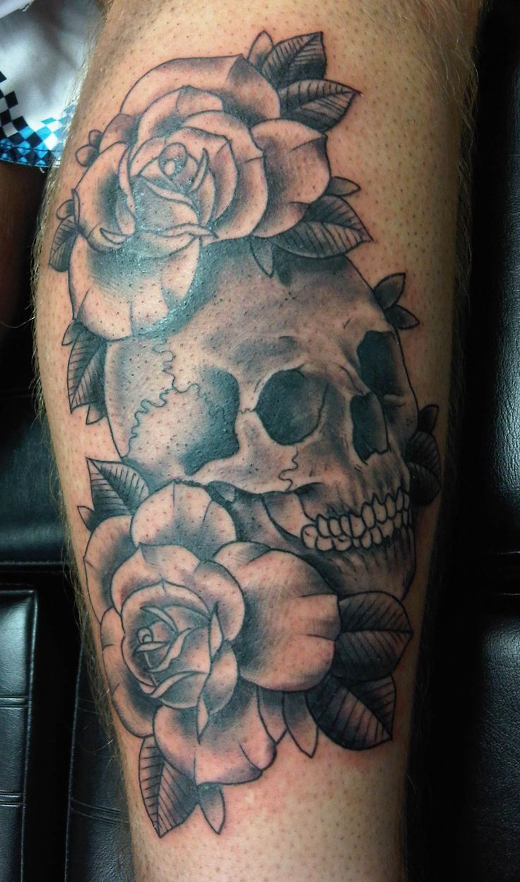 skull and rose tattoo ideas Skull And Roses Tattoos