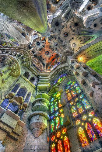 Sagrada Familia, Barcelona.  Where  spent my 40th birthday.  A place I adore