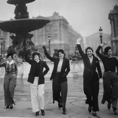 Image result for early women in trousers