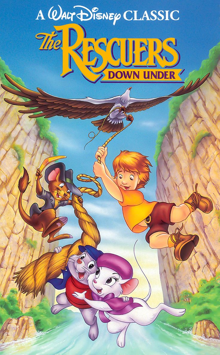 The rescuers down under, family cartoon adventure