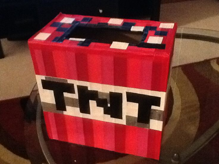 Minecraft TNT Valentine Day Boxnailed It Pinterest