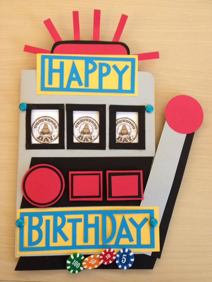 Slot Machine Card ) (With Pull Tab) Paper crafts