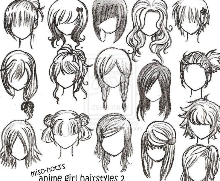 Easy to Draw Emo Hair 12howtodrawanimegirl