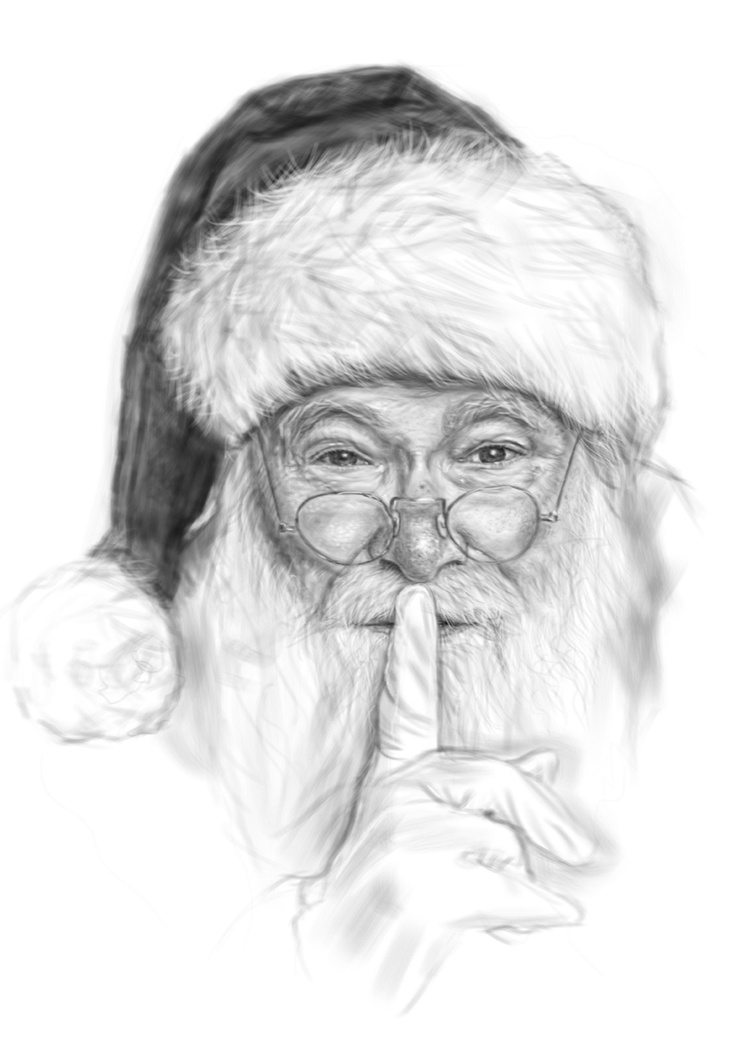 Santa illustration Nov/Dec 2012 illustartion as part