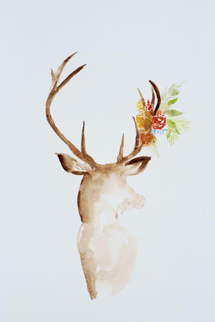 25 Best Ideas About Watercolor Deer On Pinterest Deer