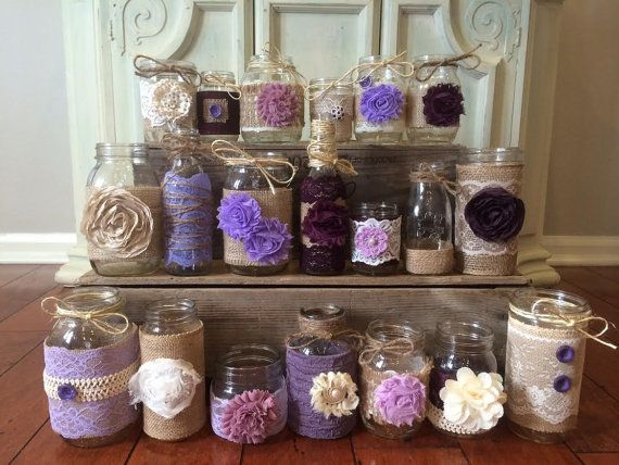 Plum Mason Jars Lavender Mason Jars Lilac Mason Jars