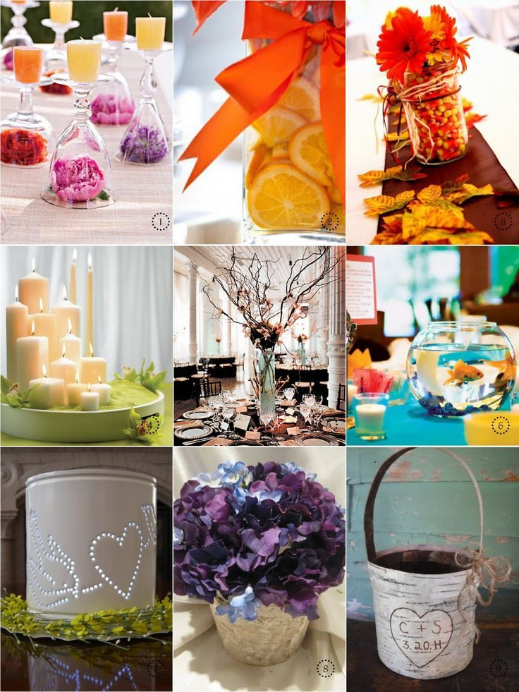 inexpensive wedding centerpiece ideas with a fall theme