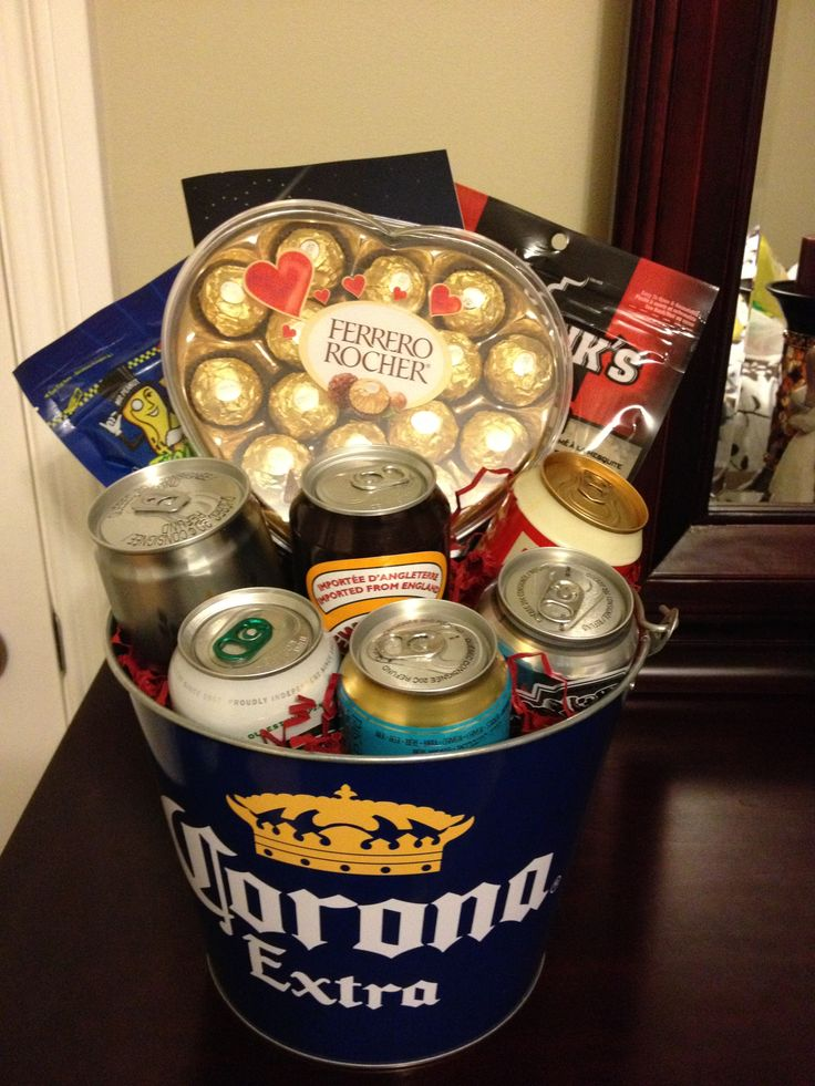 Beer Bucket Gift Basket For Men A Great Idea For