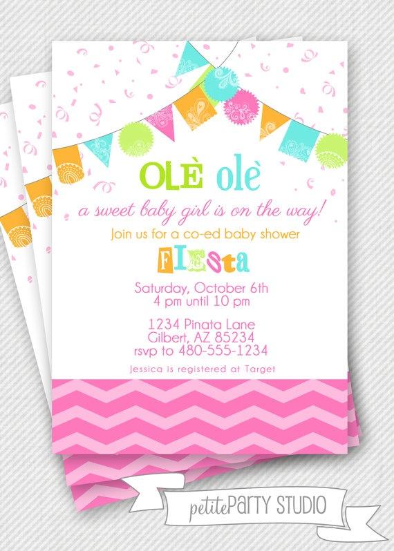 26 Fresh Baby Shower Fiesta Invitations