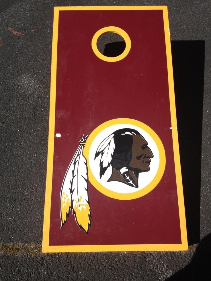 Redskins cornhole board. Redskins Pinterest Dads