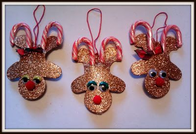 Candy Cane Reindeer Ornament {Craft} Kid-friendly and inexpensive