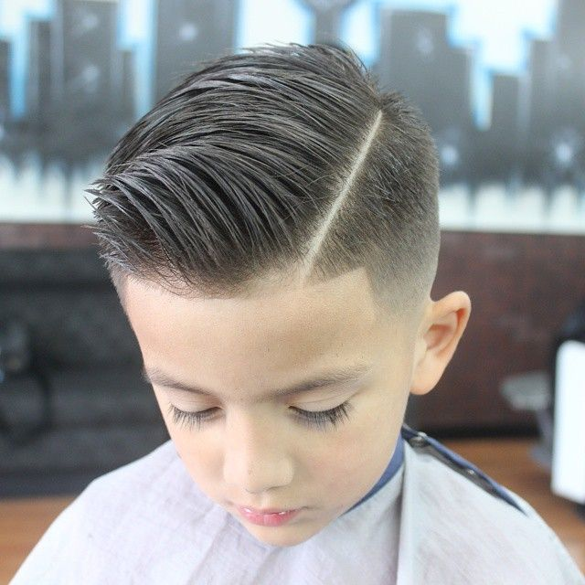 slick haircut  with a quiff HAIR KIDS  Pinterest