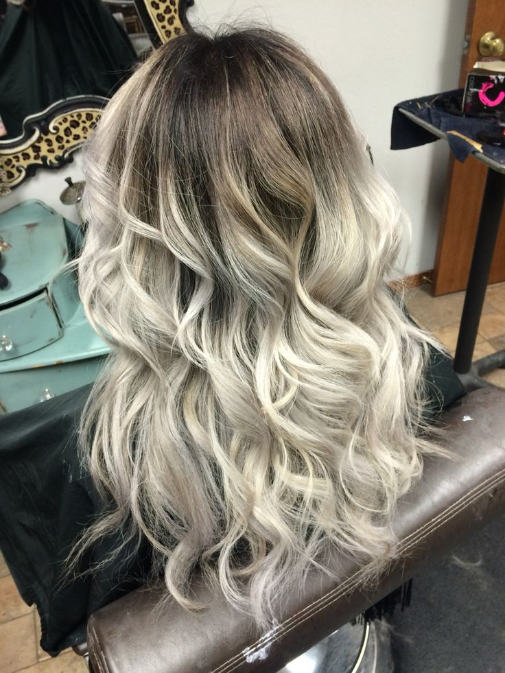 Dark Shadow Root To Silver Gray Ends Hair And Beauty