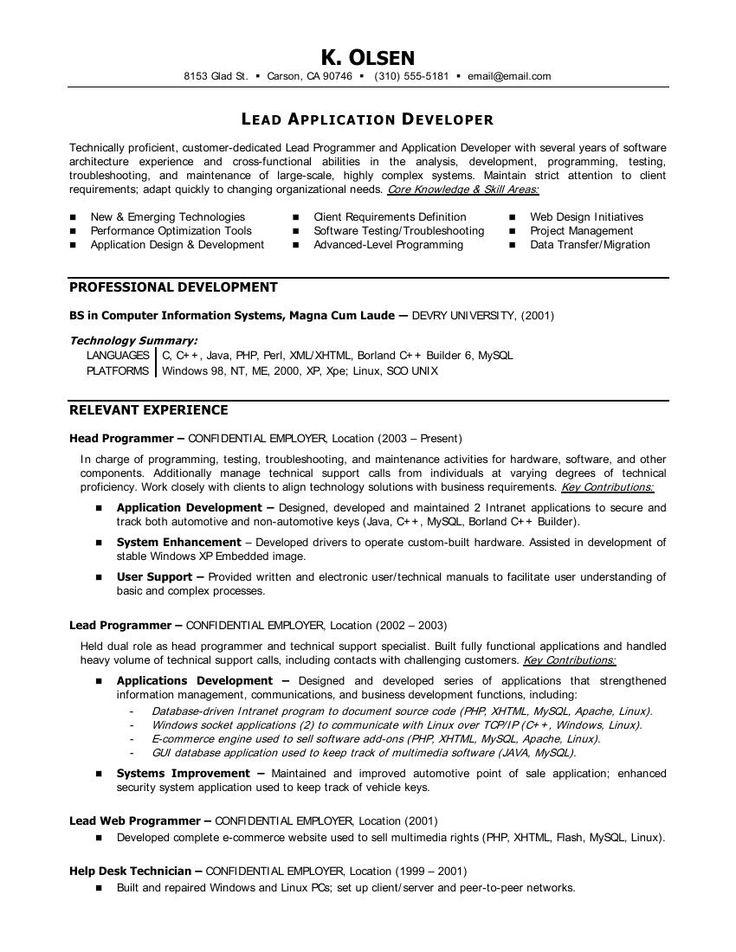 Statistician Resume Cover Letter Http Www Resumecareer