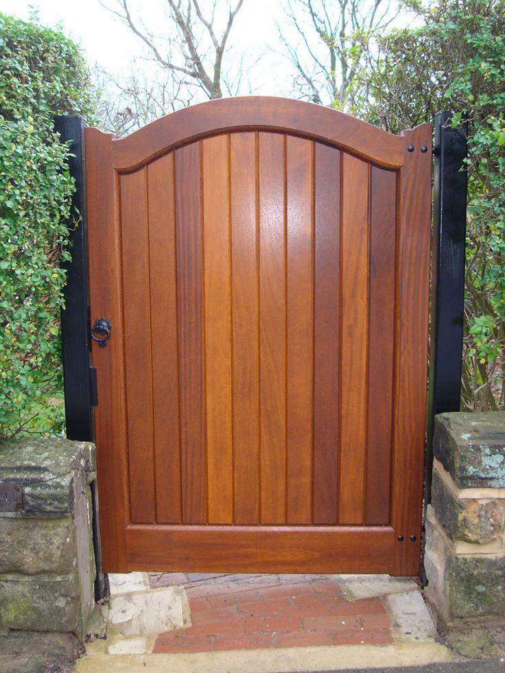 Wooden gate Side gate ideas Pinterest Gardens