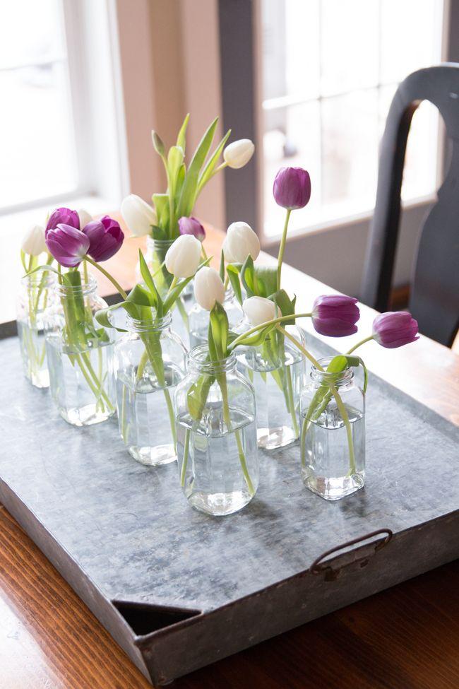 Spring Tulip Centerpiece Quick Inexpensive And It