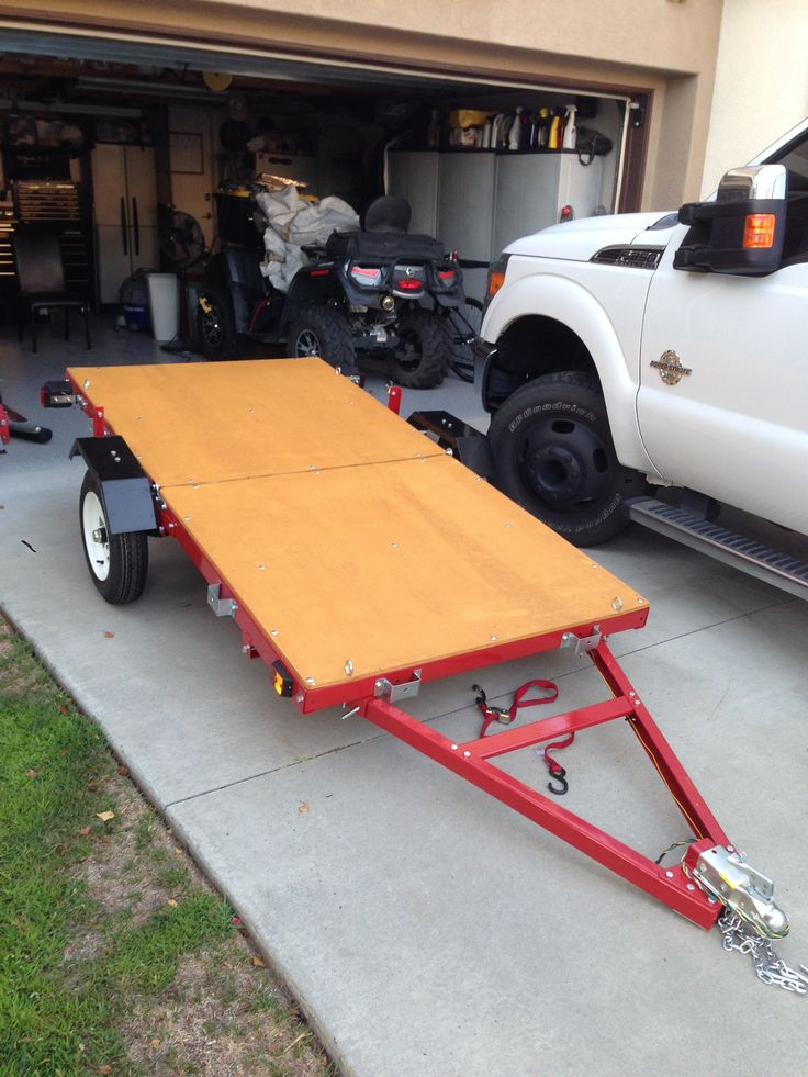 Nice folding trailer solves storage and transportation