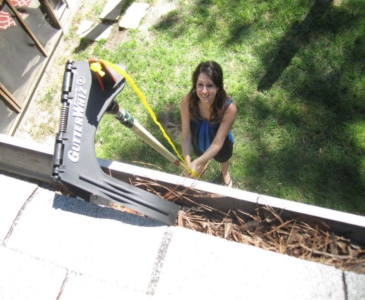 Hate cleaning gutters no ladderno problem make a tough