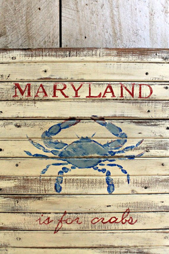 Maryland is for crabs vintage reproduction painted sign