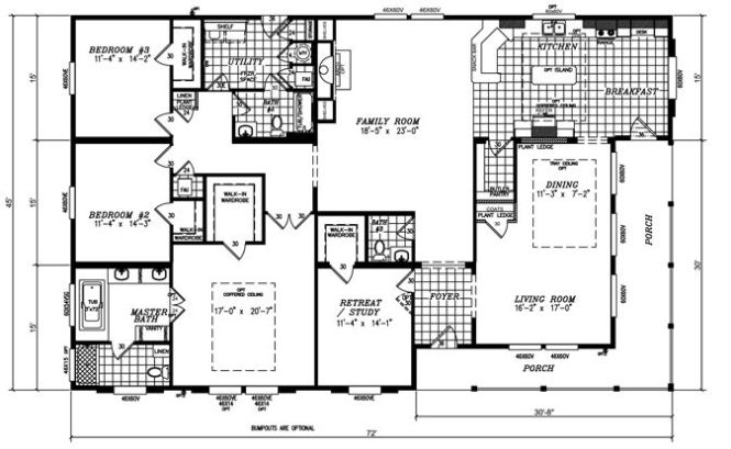Triple Wide High Pitch Roof Construction Home Pinterest And Manufactured Homes Floor Plans