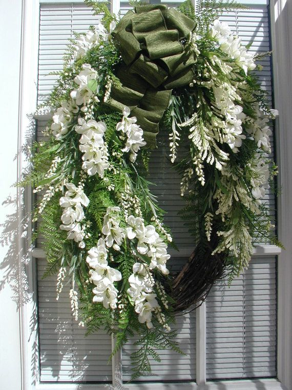 Oval Grapevine Wreath Spring Wreath Summer Wreath