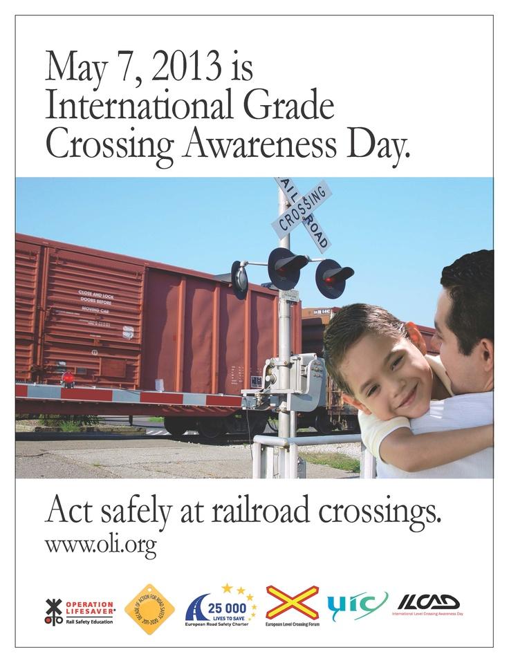 International Level Crossing Awareness Day 2013 trespass