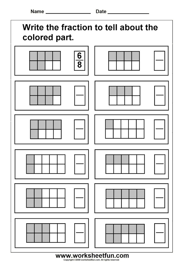 fractions EDUCATION,ENGLISH, FREE WORKSHEETS Pinterest