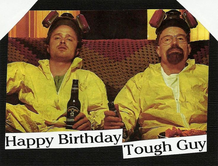 Mr. White and Jesse Breaking Bad Birthday Card Happy