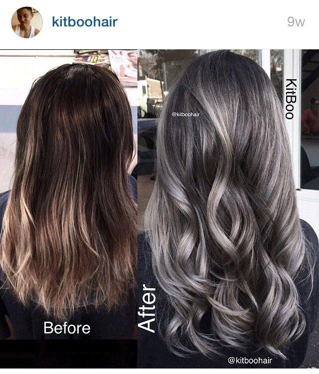 Gorgeous Gunmetal Gray Hair StrayHair Of Gunmetal Grey