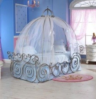 Cinderella Canopy Twin Bed Frame Contemporary Kids