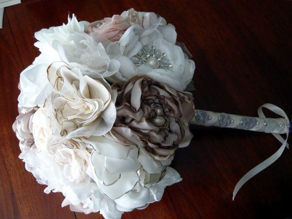 Fabric Flower Bouquet : Wedding Bouquet Diy Flowers