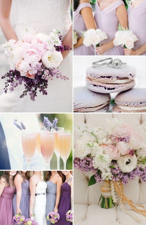 Beautiful lavender wedding color palette: