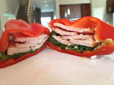 Cut out bread and use a fresh, delicious bell pepper instead for sandwiches. (Gluten Free)