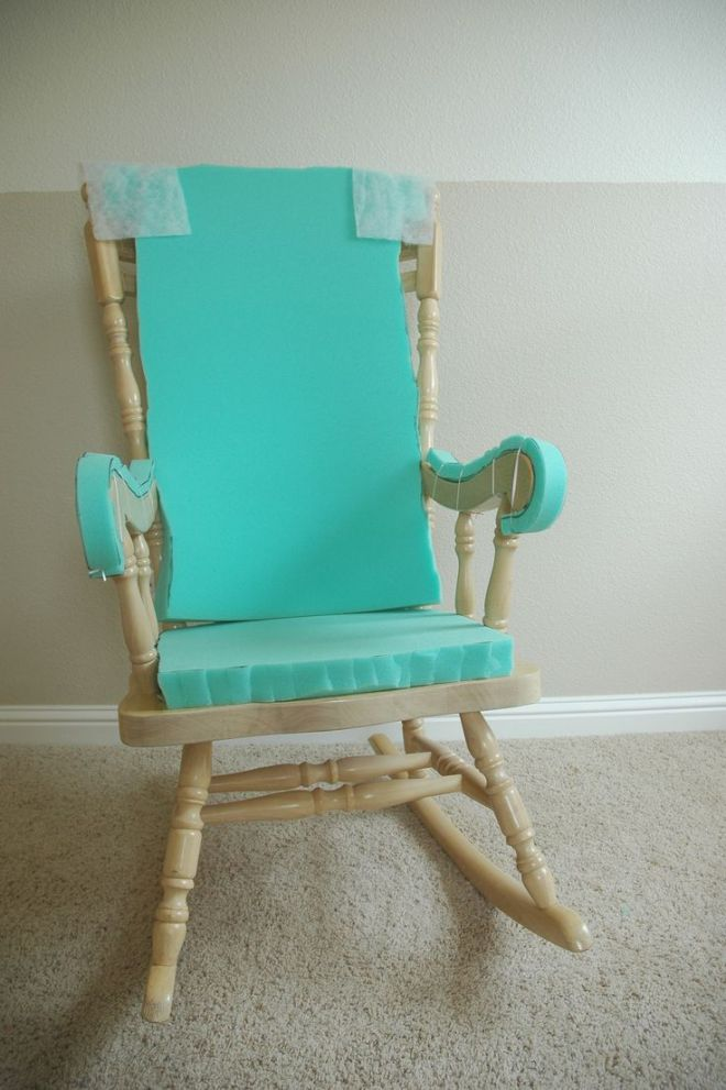 Adding comfort to a wooden rocking chair part one