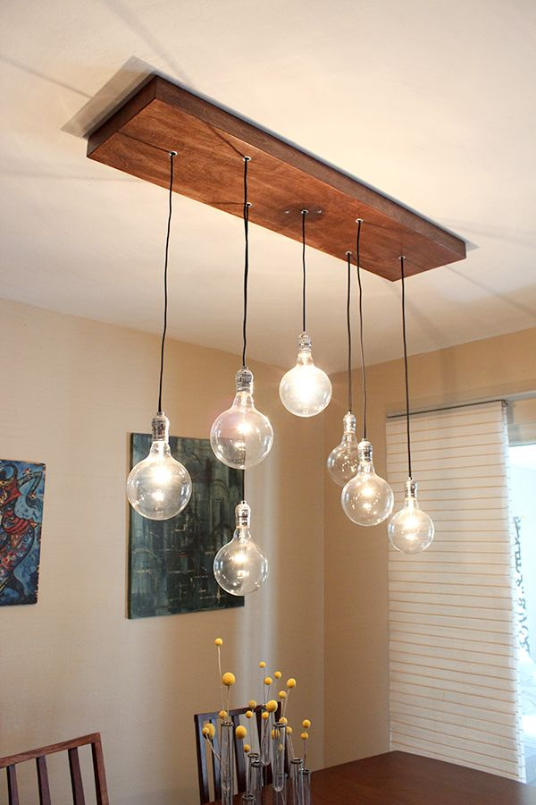 DIY A Rustic Modern Chandelier Indignant CORGI Another