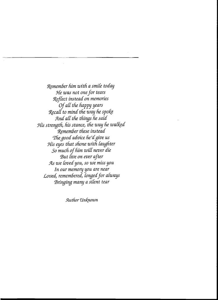 Funny Funeral Poems Dad