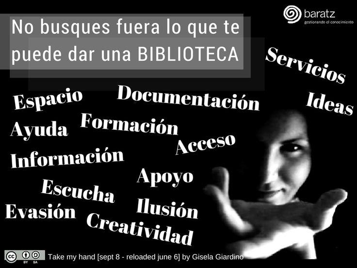 No busques fuera lo que te puede dar una BIBLIOTECA