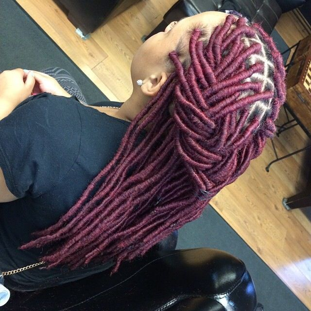 45 Best Colored Faux Locs Images On Pinterest Natural