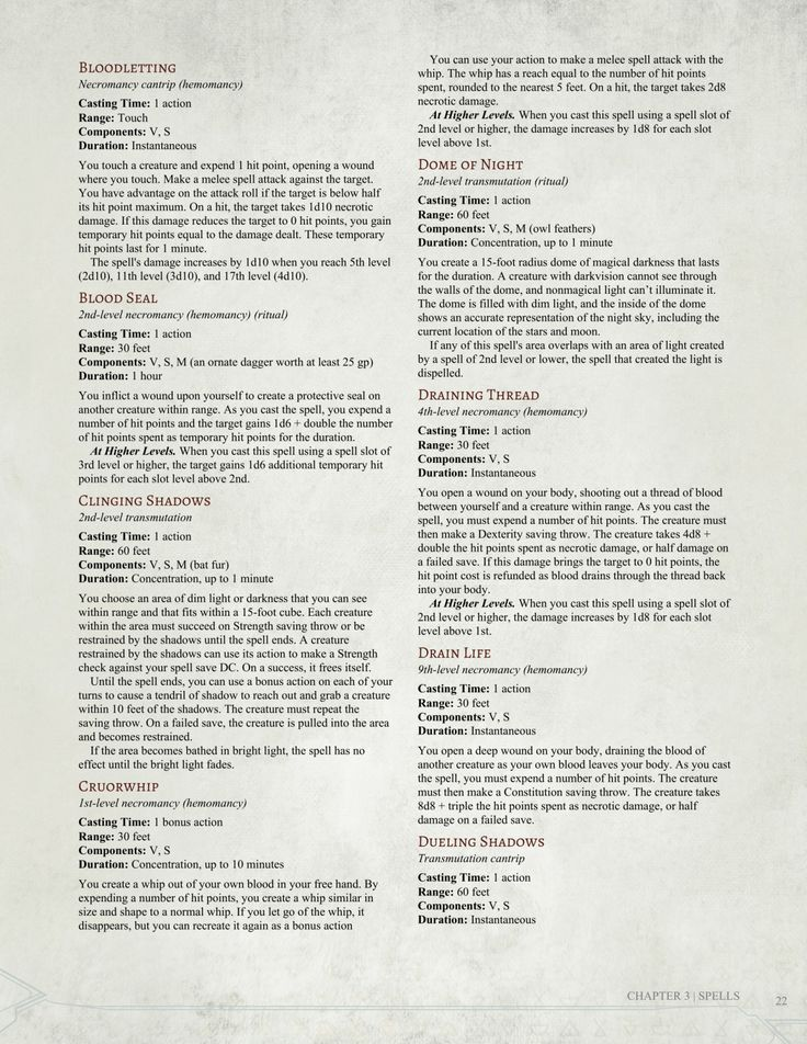 DnD 5e Homebrew spells Pinterest