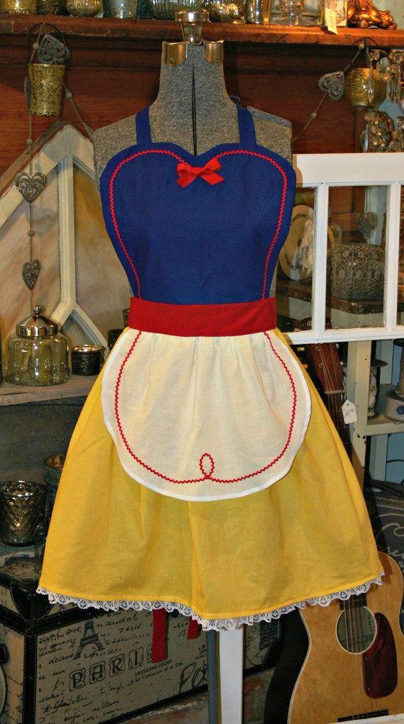 SNOW WHITE Costume full APRON for Women. Disney Princess