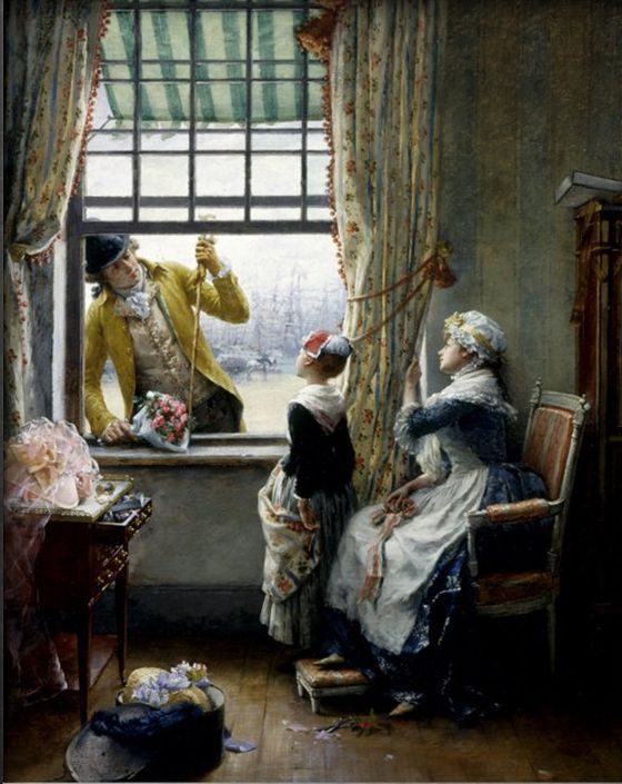 A Secret Admirer By Pierre Outin 1840 1899 Classic