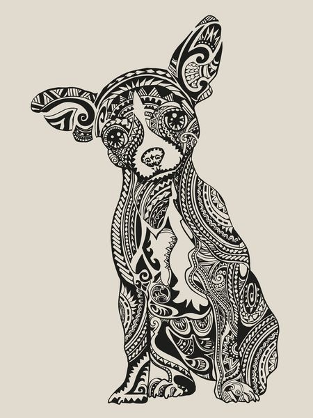 chihuahua more chihuahua art art prints polynesian chihuahua