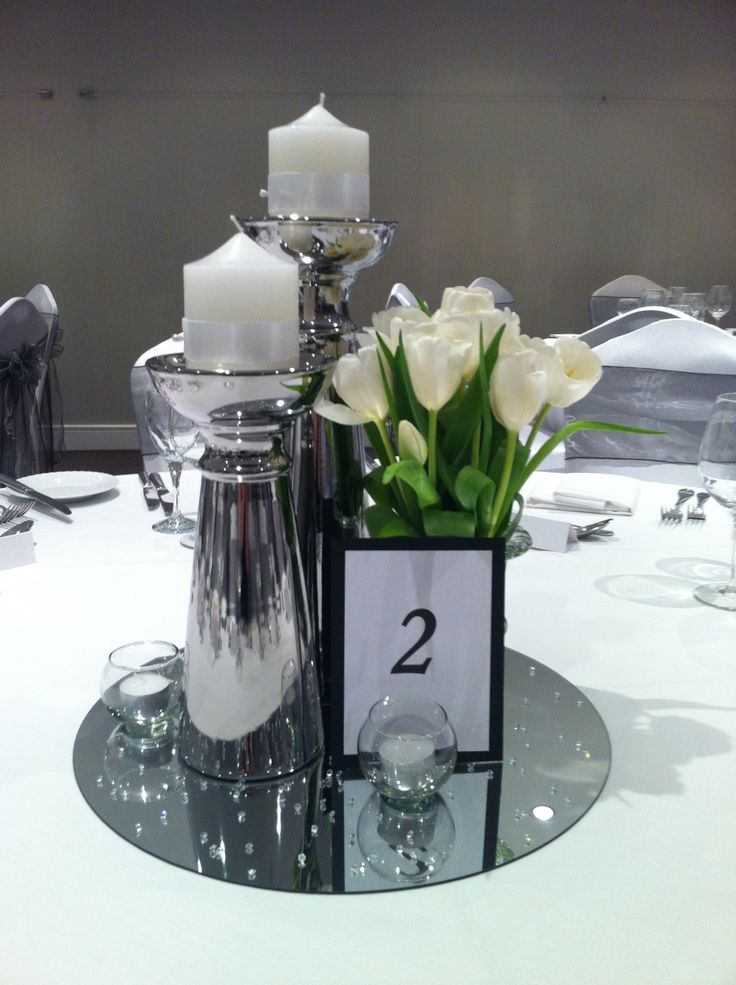 Tulip Wedding Centrepiece Id Even Place A No 3 On It