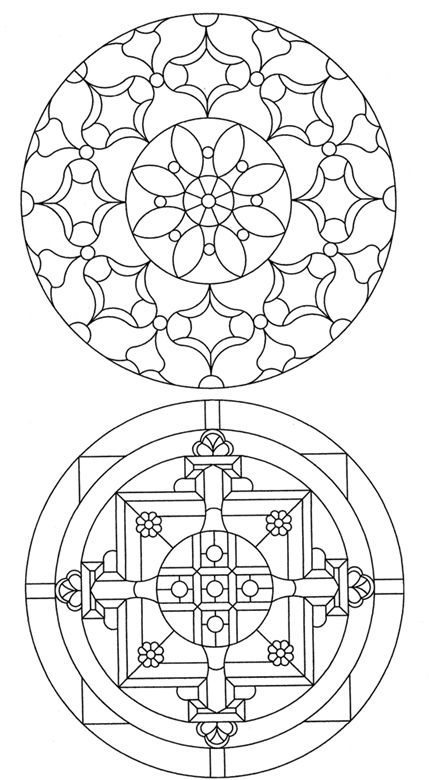 Mandala Stained Glass Pattern Book Doodles Coloring