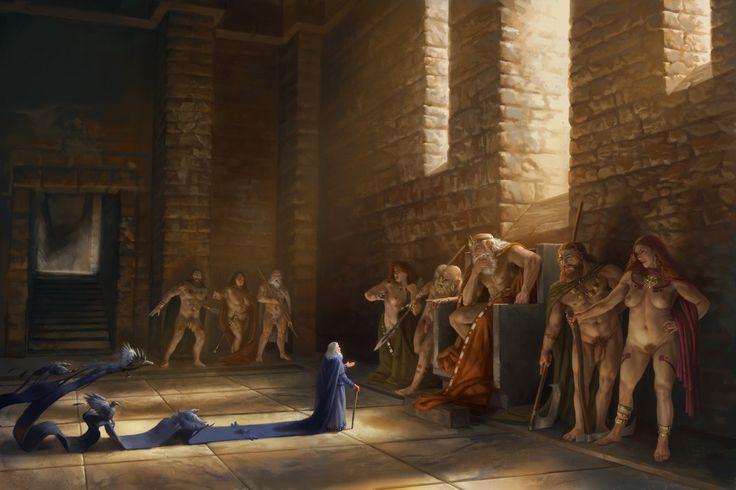 Odin In The House Of Giants By Rhinevilledeviantartcom On DeviantArt Vikings Pinterest