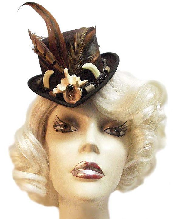 Voodoo Witch Doctor Mini Steampunk Gothic Fascinator Top